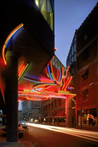 Neon for the Greektown Station