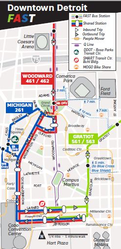 FAST Bus Downtown Map