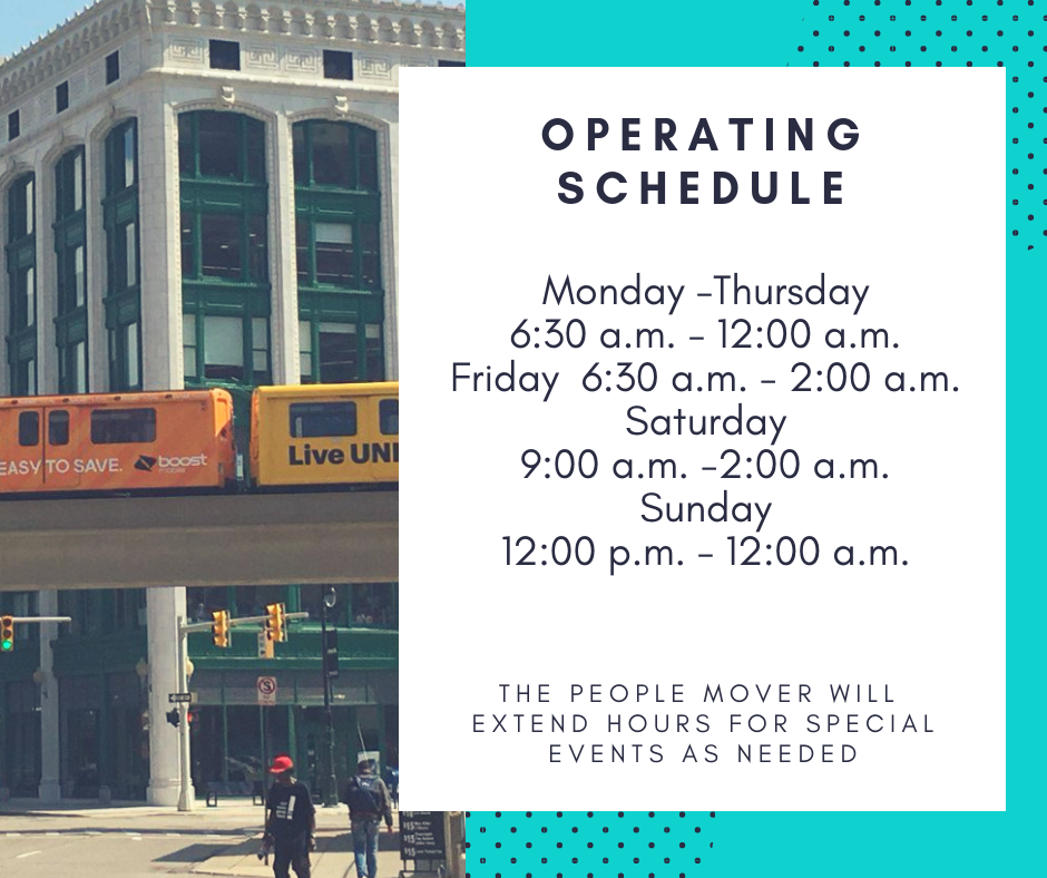 Detroit People Mover hours of operation